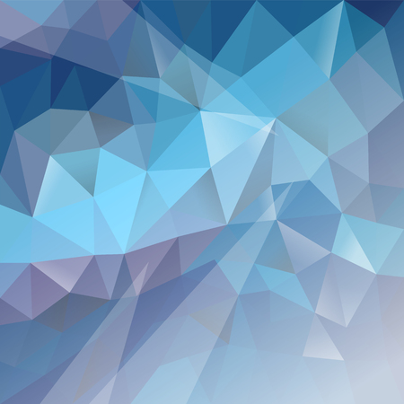 polygonal background gradient light blue to white Ilustracja