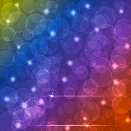 Different colors Bokeh, abstract light, background Illustration