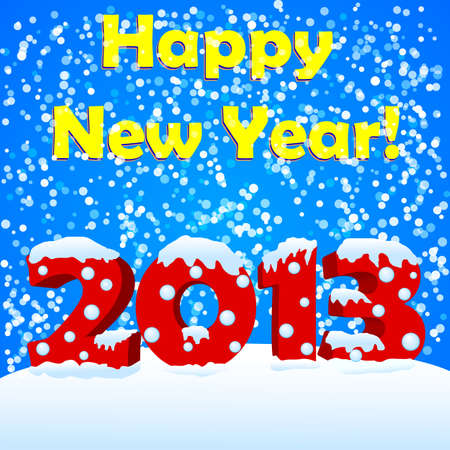 snow drift: happy new year 2013