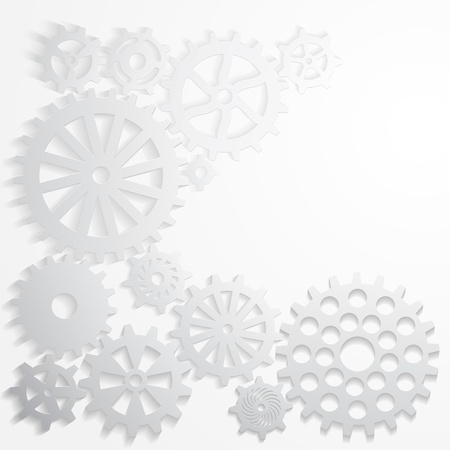 Abstract background gears, metal with shade Stock Vector - 16453081