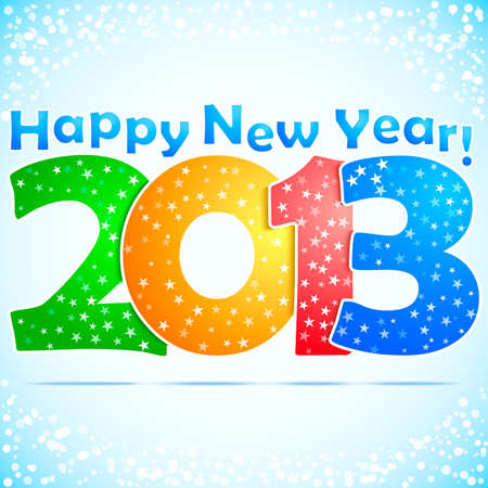 Happy New Year 2013 Background with snow Vector