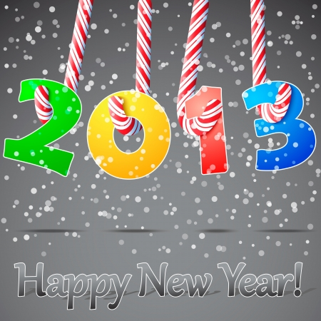 2013 Happy New Year background  Vector