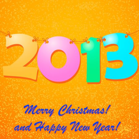 snow drift: Happy New Year 2013 Background with snow