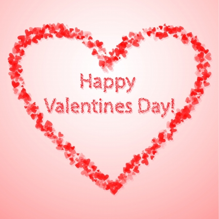 Valentine's day background with hearts Stock Vector - 16709946