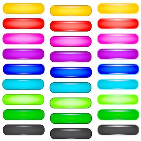 Color buttons on white background  Illustration Illustration