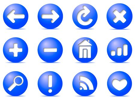 Communication icons on buttons,