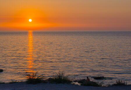 Sunset on the beach  Sunset, Sevastopol,Crimea