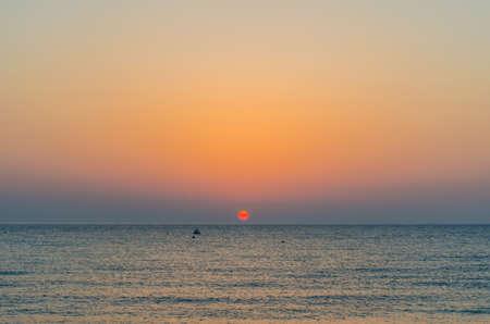 Dawn on the beach  Stock Photo