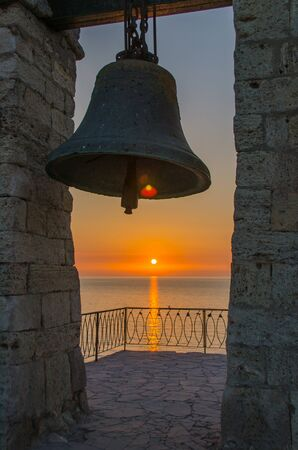 Bell tower at sunset  Crimea, Sevastopol