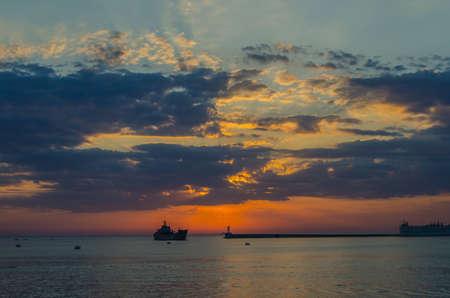 Dawn on the beach  Dawn, Sevastopol,Crimea