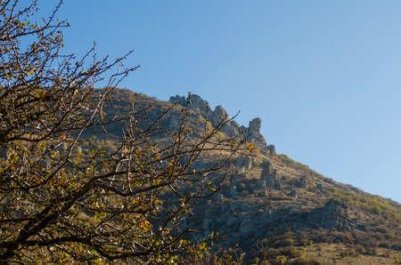 Scenic view from Demerdji to Alushta valley. Crimea.