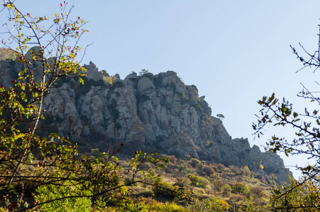 highlands region: Scenic view from Demerdji to Alushta valley. Crimea.
