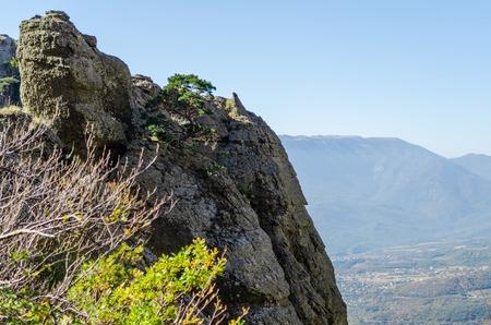 Demerji mountain in Crimea near Alushta Stock Photo