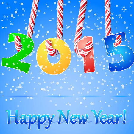 2015 Happy New Year background Vector
