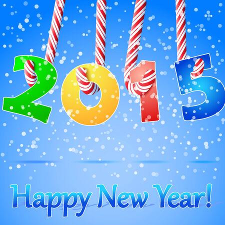 2015 Happy New Year background Illustration