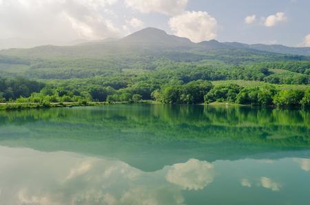 Small mountain lake in Crimea mountains, Alushta.