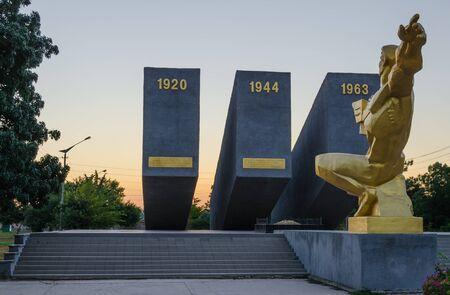 Three Perekopa assault at dawn. In Krasnoperekopsk.