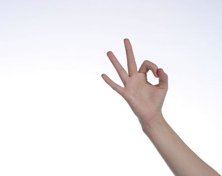 alright: young human hand giving the OK sign