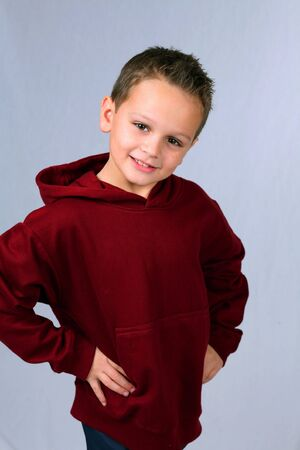 3/4 shot of cute little caucasian boy with brown eyes Stock Photo - 2956924
