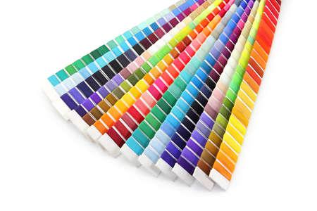 pantone: Pantone swatch of colorful thread on white background Stock Photo