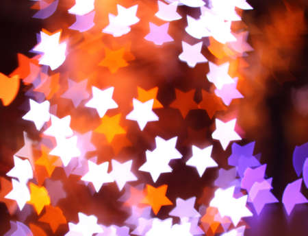pentacle: Abstract colorful bokeh background image caused by shooting out of focus of light at night