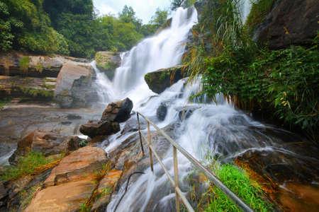sylvan: Waterfalls and natural beauty of Mae Klang waterfalls at Chiang Mai in Thailand.