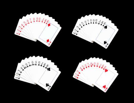 jack of diamonds: Playing cards Full set on black background