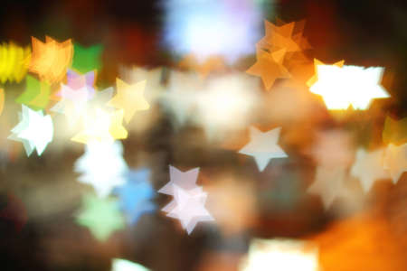 pentacle: Colorful bokeh pentacle shape , the art from night lights
