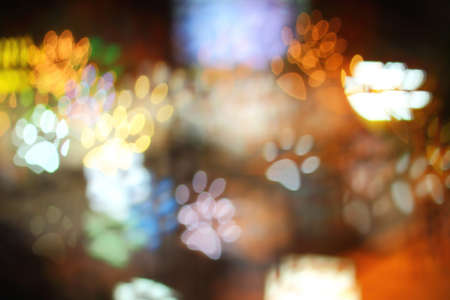 spoor: Colorful bokeh spoor shape ,the art from night lights