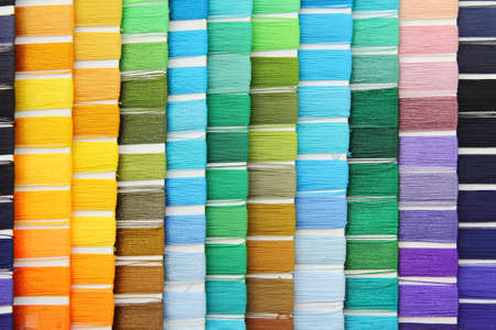 swatch: swatch of colorful thread Stock Photo