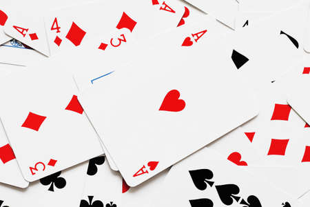 royal flush: The background image of playing cards multiple numbers Stock Photo