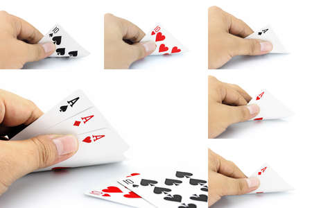 focuses: The combination of cards will come as a Full House in poker game, Focuses on card in the hand.