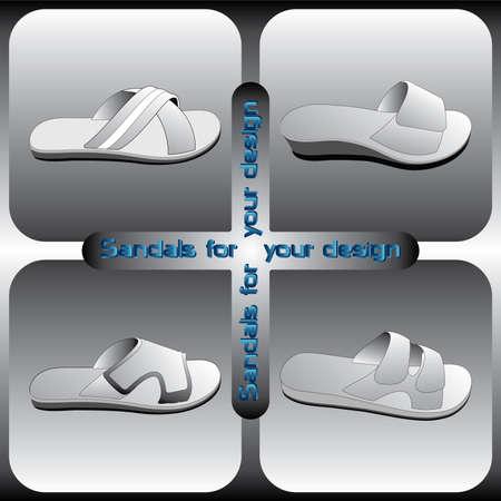 sandals: Sandals vector for your design Illustration