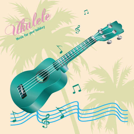 Ukulele music for your holiday.Vector illustration.