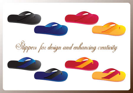 enhancing: Slippers  for design and enhancing creativity Illustration