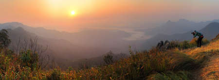 beautiful location: PHU CHEEFA national park panorama viewpoint at Chiang Rai province in Thailand is a beautiful location and very popular for photographers and tourists