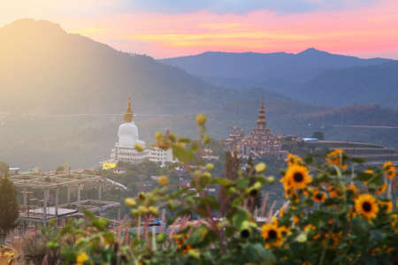 beautiful location: (Wat Phra That Pha Son Kaew) Buddhist Temple at Khao Kho District ,Phetchabun Province in Thailand among beautiful natural. This is a beautiful location and very popular for photographers and tourists