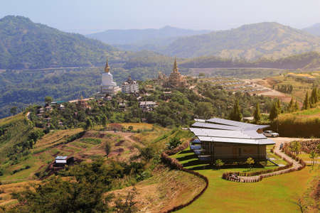 (Wat Phra That Pha Son Kaew) Buddhist Temple at Khao Kho District ,Phetchabun Province in Thailand among beautiful natural. This is a beautiful location and very popular for photographers and tourists