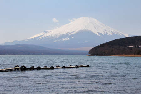 Lake Yamanaka is a point of view Mount Fuji is very popular for photographers and tourists.