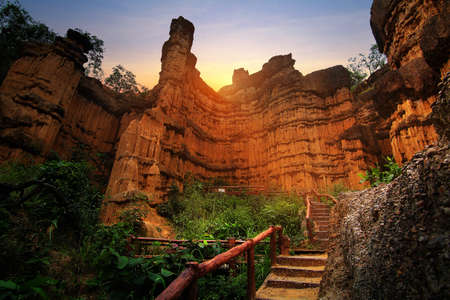 Cliff stone of Pha Chor is tourist attraction place at the Doi Lo district Chiang Mai, in Thailand , is a very popular for photographer and tourists. Attractions and tourism Concept
