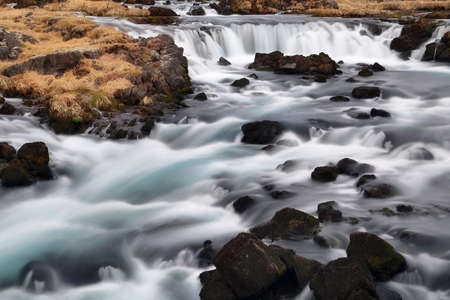 The Fossalar river in southern Iceland. Stock Photo