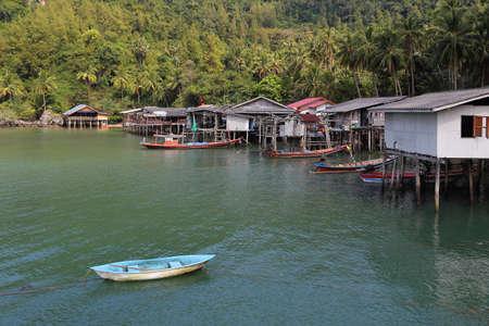 Fishing village at Ban Ao Kram , Chumphon province in Thailand.