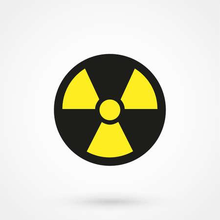 radiacion: Icono de peligro de radiaci�n Vectores