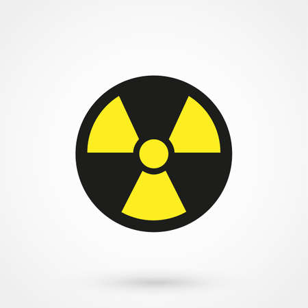 radioisotope: Radiation danger icon