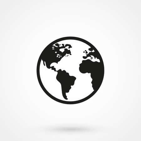 icono de vector del mundo Ilustración de vector