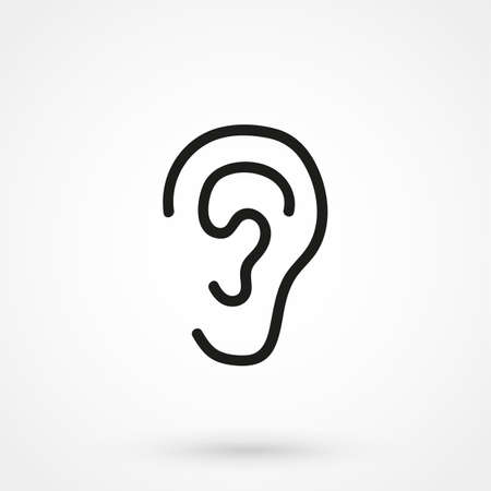 listener: ear icon vector Illustration