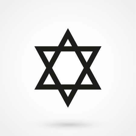 chanukkah: Star of David icon Vector
