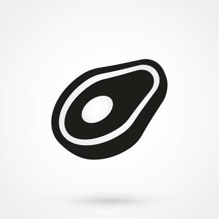 lamb chop: meat icon vector