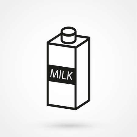 Milch-Symbol Vektor