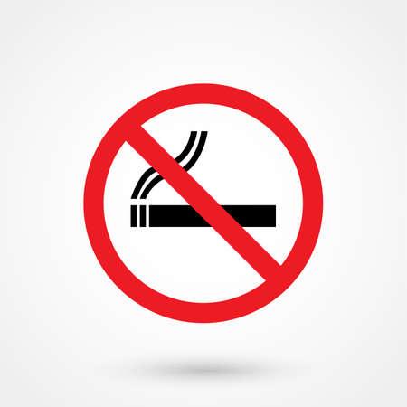 smoldering: no smoking icon Illustration